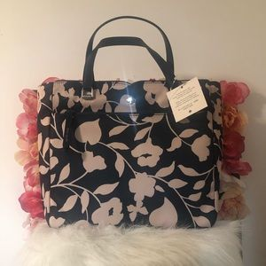 Kate Spade Jae Nylon Floral Medium Satchel W/Strap